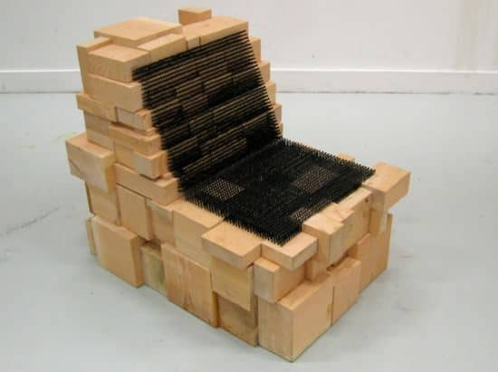 Chair Made With 3,726 Drywall Screws Recycled Furniture