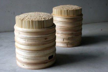 Chopsticks + steamer stool