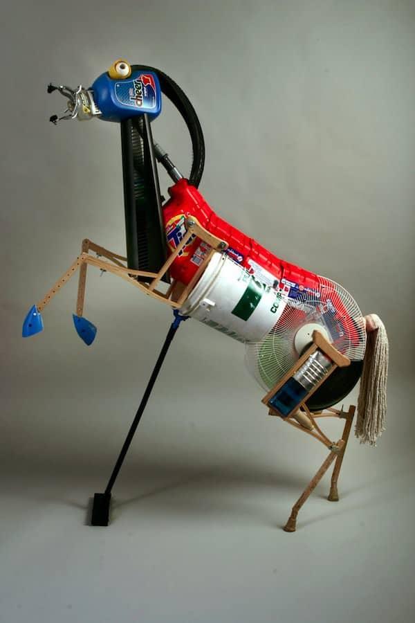 Peter Wilcox Sculpture Recycled Art