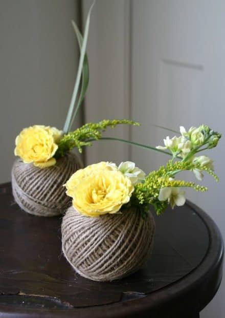 Spools twine vases