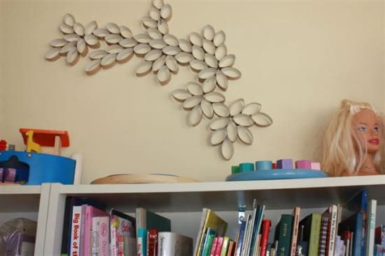Diy: Paper Rolls Wall Art Do-It-Yourself Ideas Recycled Art Recycled Cardboard