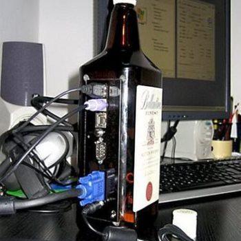 Whiskey bottle computer