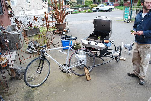 Bbq Bike Upcycled Bicycle Parts