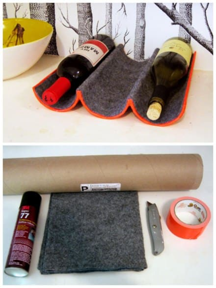 DIY : wine rack with mailing tube