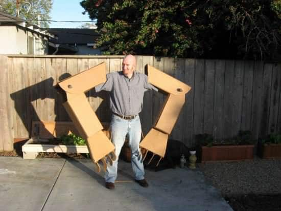 DIY: Giant Robot Arms Recycled Cardboard
