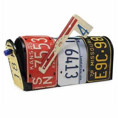License plate mailbox Home Improvement Recycling Metal