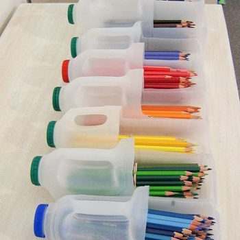 DIY: Brilliant Pencils Containers From Upcycled Plastic Bottles