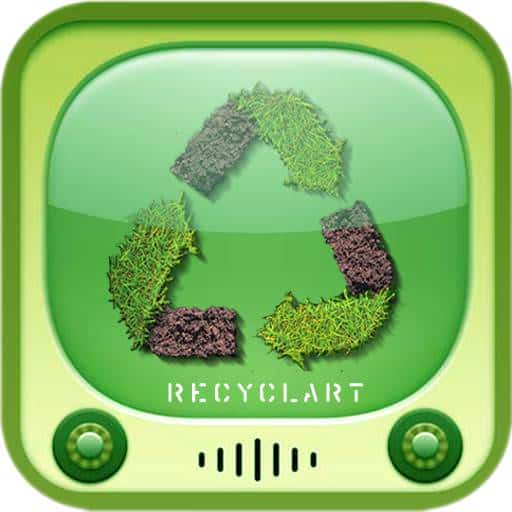 Logo recyclart iphone4 v2 The Recyclart iPhone App available ! in social  with Recycled iPhone iPad Green free