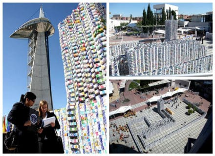 Castle Made From 50,000 Upcycled Milk Cartons (Guinness World Record)