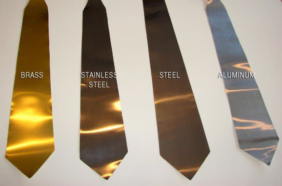 Metal Neckties Accessories Recycling Metal