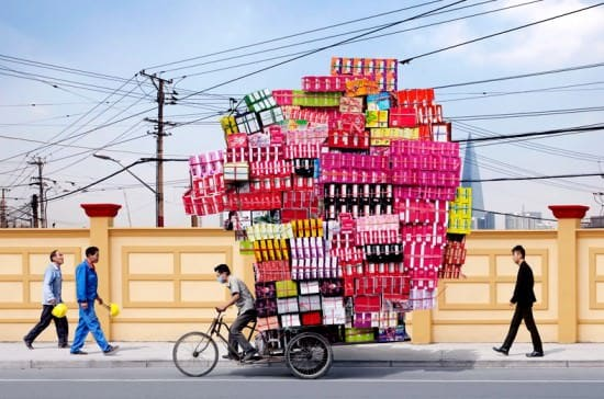 Manufactured Totems by Alain Delorme Bike & Friends Interactive, Happening & Street Art Recycled Art