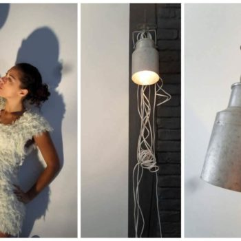 Milk Jug Reused Into Pendant Light