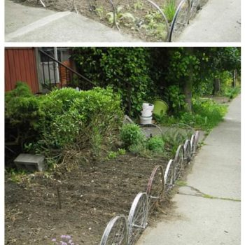 Fence From Upcycled Bike Wheels