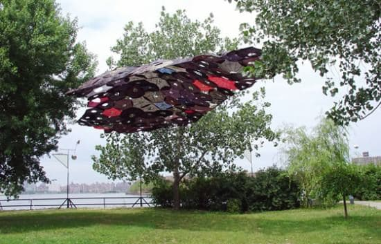 Penumbrella: Canopy Of Recycled Umbrellas Interactive, Happening & Street Art Recycled Art