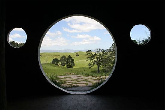 Hobbiton used by sheeps in wood architecture  with Sheeps movie film Animals