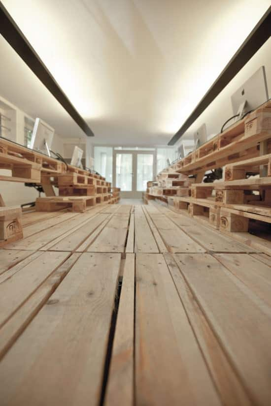 pal03 Pallet office by Most Architecture in wood pallets 2 furniture architecture  with Pallets office Desk