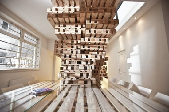 Pallet office by Most Architecture in wood furniture pallets 2 architecture  with Pallets office Desk