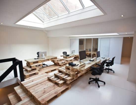 pal12 Pallet office by Most Architecture in wood pallets 2 furniture architecture  with Pallets office Desk