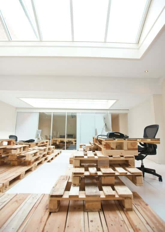 Pallet office by Most Architecture in wood pallets 2 furniture architecture  with Pallets office Desk