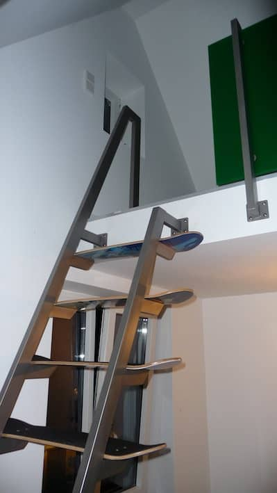Skateboard deck stairs in furniture sport goods architecture  with stairs Skateboard deck