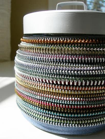 Vintage zipper's decor