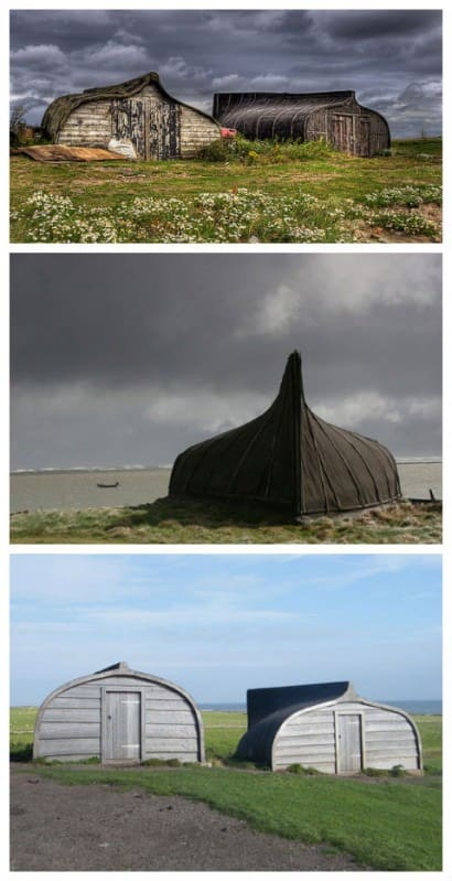 Boats recycled into sheds
