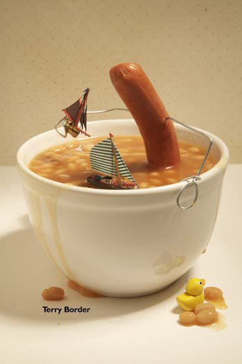 English Breakfast (Bent Objects) Recycled Art