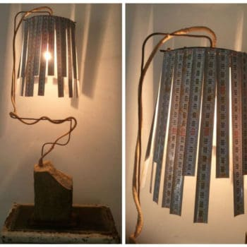 Vintage Meters Into Desk Lamp