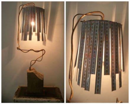 Vintage Meters Into Desk Lamp