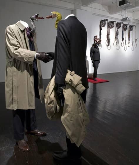 Guerra de la Paz Snake ties  in art fabric with
