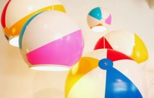 Beach ball lamp shade
