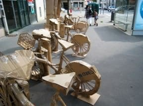Cardboard bike station
