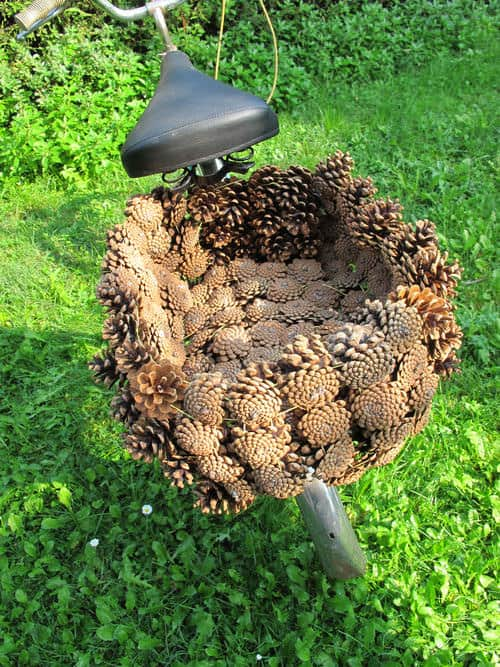 Pine Cone Bike Basket Bike & Friends Wood & Organic
