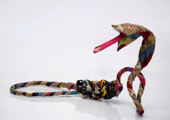 snake tie Snake ties  in art fabric with