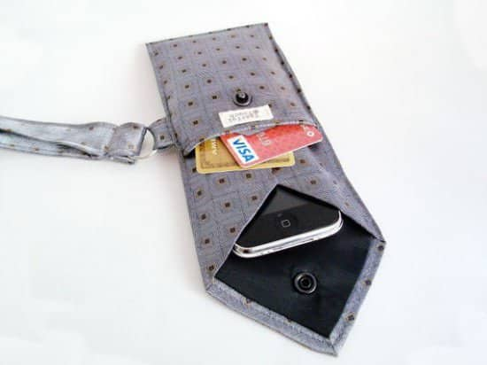 Tie phone case in fabric accessories  with Tie iPhone case
