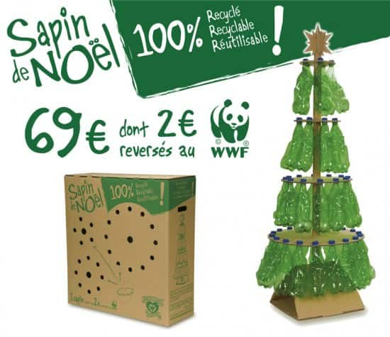 Christmas tree from the DesignPack Gallery in social art plastics packagings  with Tree Recycled Plastic Christmas Bottle