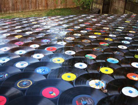 Roof Shingled With Old Lp Records Home Improvement Recycled Vinyl