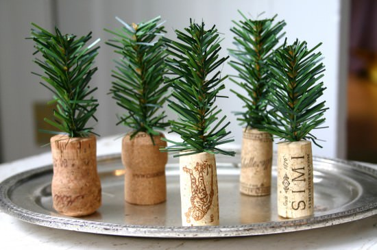 DIY : Tiny trees in wood diy  with Tree cork Christmas