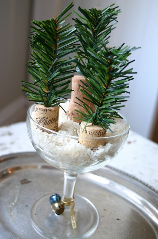 noid IMG 8406 DIY : Tiny trees in wood diy  with Tree cork Christmas