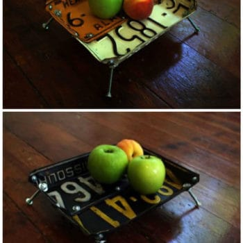 License Plates Upcycled Into Bowls