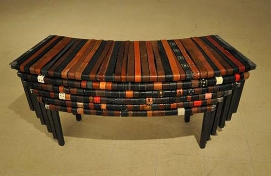 The One Thousand Belts Bench Recycled Furniture