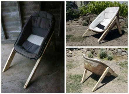 Wheelbarrow Chair