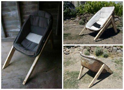Wheelbarrow chair