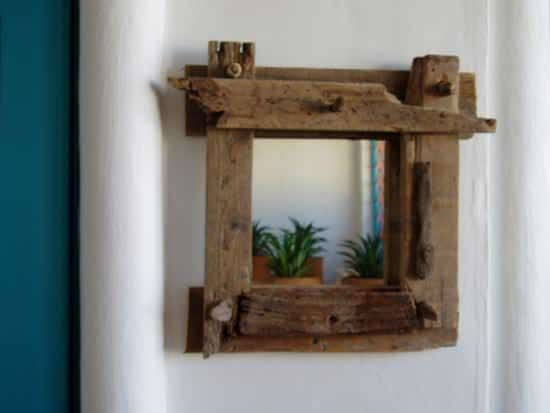 Driftwood mirrors 02 Driftwood mirrors in wood art  with Wood / organic Mirror Glass driftwood Art 