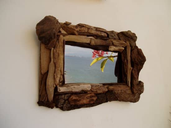 Driftwood mirrors in wood art  with Wood Mirror Glass driftwood Art