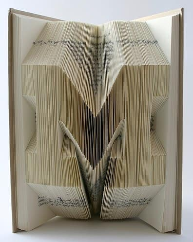 Book Origami in paper art  with origami Book Art