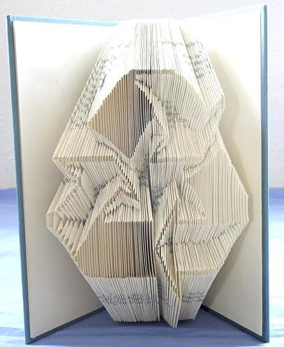 Book Origami in art paper  with Recycled Art origami Books