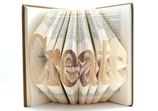 Book Origami in paper art  with origami Books Art