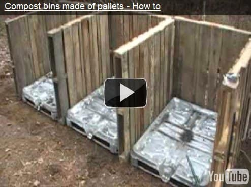 compost bin Compost bin made of pallets (video) in wood pallets 2  with Pallets Garden 