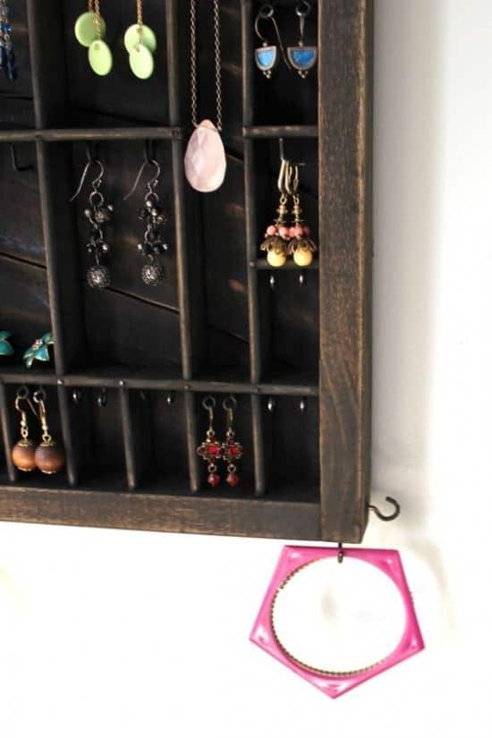 Drawer –> Jewelry Display Accessories Do-It-Yourself Ideas Recycled Furniture